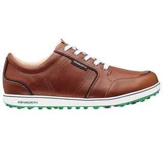 Ashworth Men's Cardiff ADC Spikeless Brown/Dark Brown/Fairway Golf Shoes