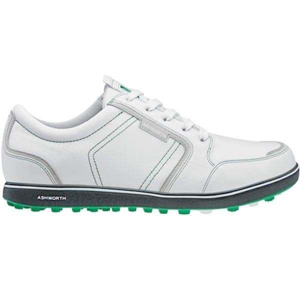 Ashworth Men's Cardiff ADC Spikeless White/Dark Grey/ Fairway Golf Shoes