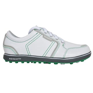 Ashworth Men's Cardiff ADC Spikeless White/Dark Grey/ Fairway Golf Shoes