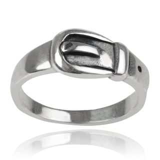 Journee Collection Sterling Silver Belt Ring