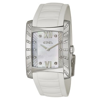 Ebel Women's Brasilia Stainless Steel and Ceramic Swiss Quartz Watch