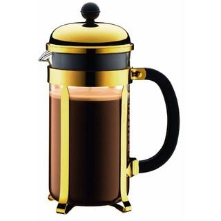 Bodum CHAMBORD French Press Coffee Maker, 34 oz, 1 L, 8 Cup, Gold