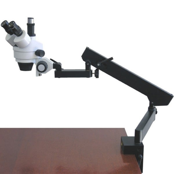 AmScope 7x-45x Trinocular Articulating Zoom Microscope with Clamp