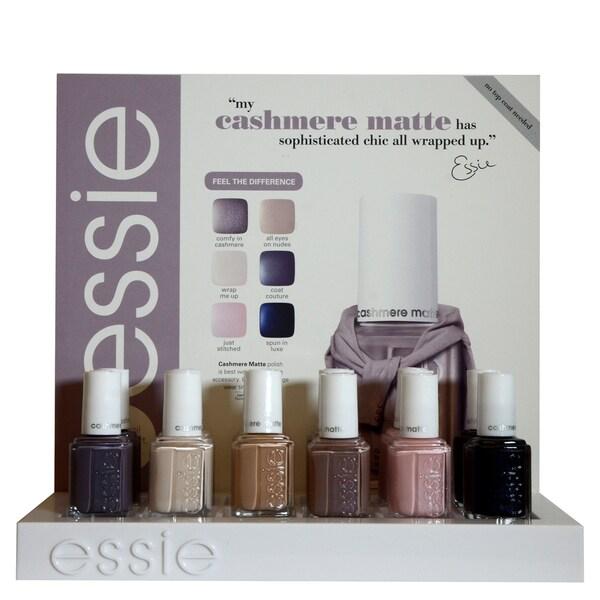 Shop Essie Cashmere Matte 12-piece Nail Polish Display Kit - Free ...