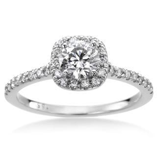 SummerRose 14k White Gold 4/5ct TWD White Diamond Engagement Ring