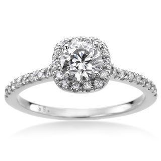 SummerRose 14k White Gold 4/5ct TWD White Diamond Engagement Ring (H-I,SI1-SI2)