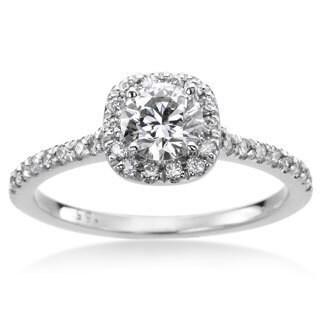 SummerRose 14k White Gold 4/5ct TWD White Diamond Engagement Ring