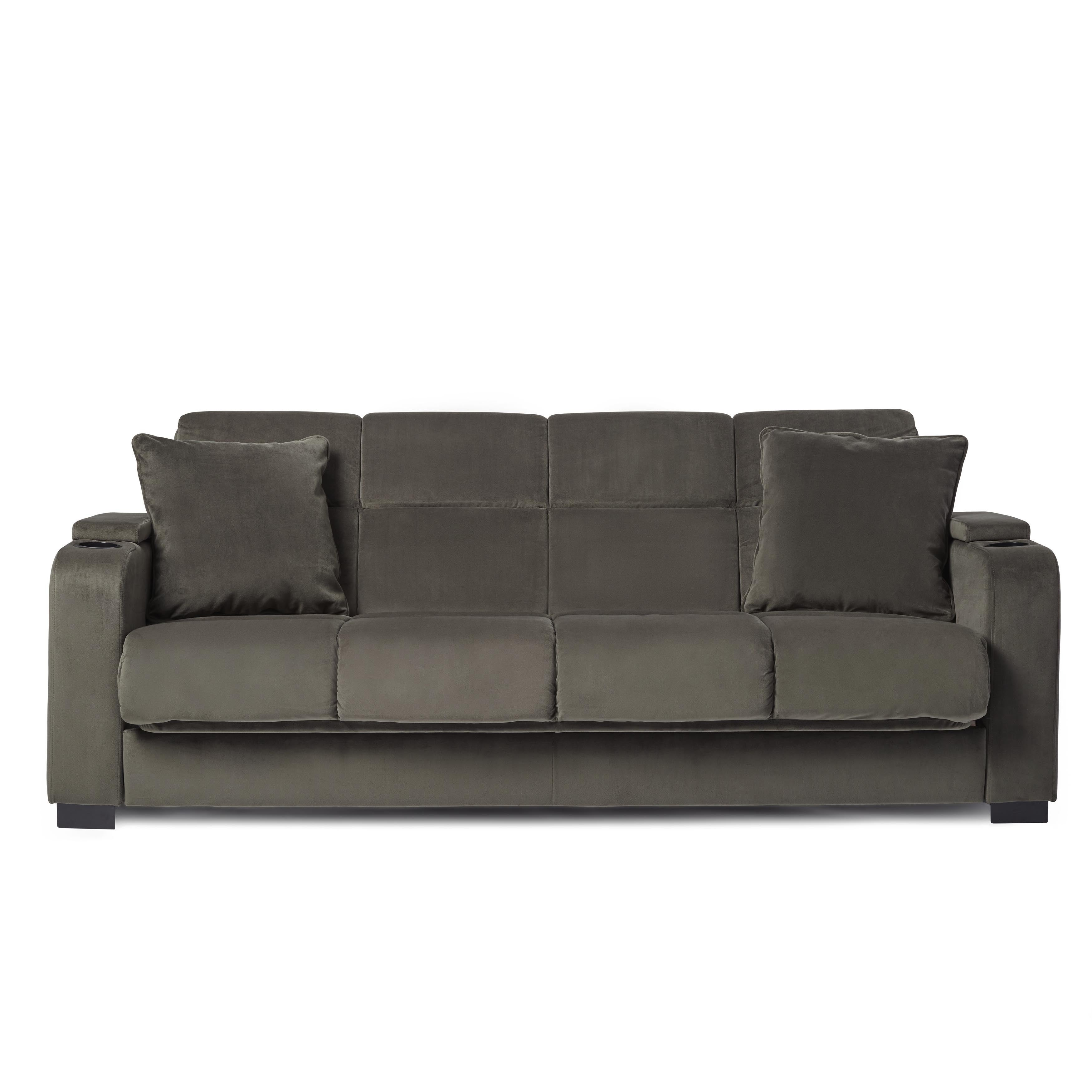 A Futon Couch Sofa Daybed Sleeper Velvet Recliner