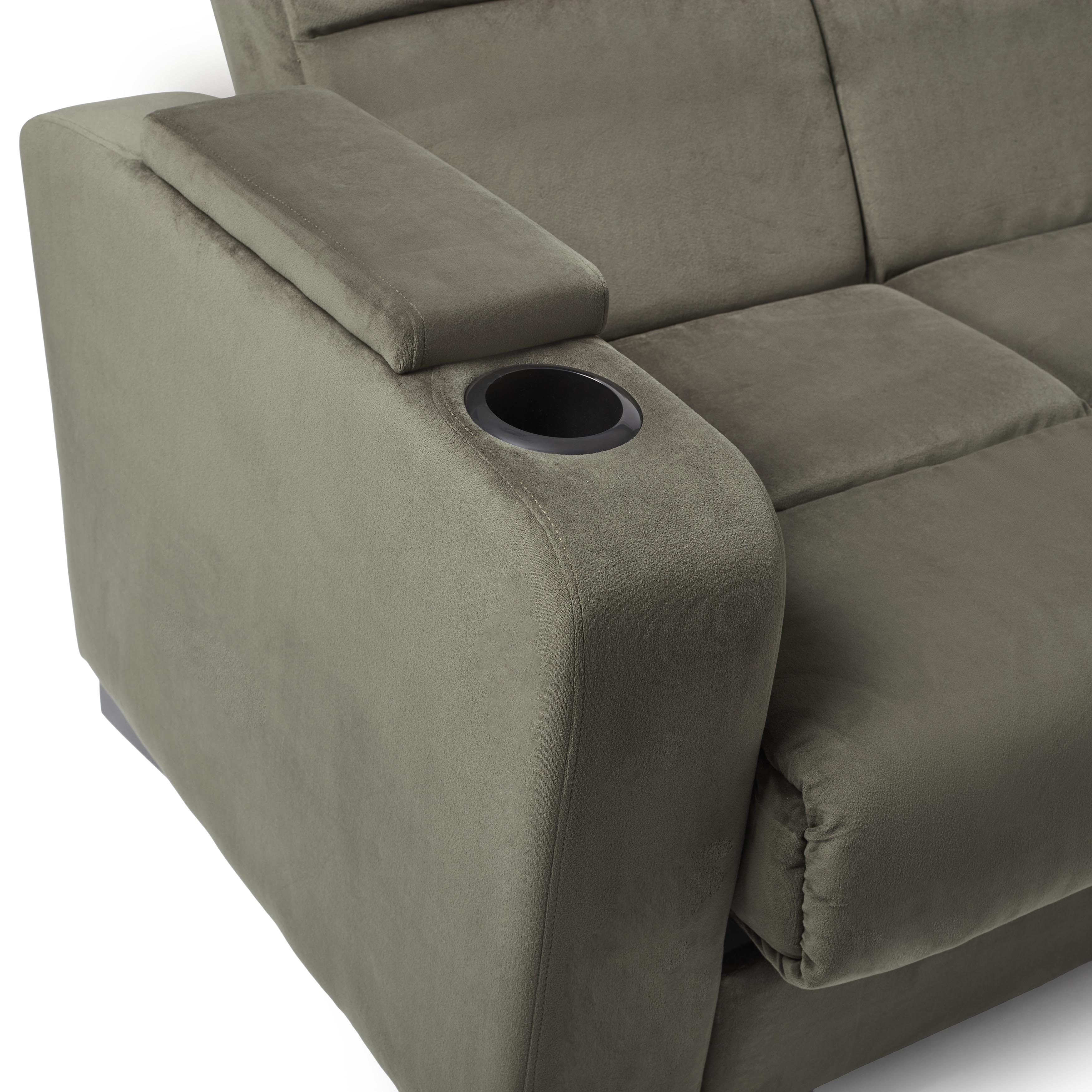 low priced 82dc4 826ae Copper Grove Jessie Grey Velvet Convert-a-Couch Futon Sofa Sleeper