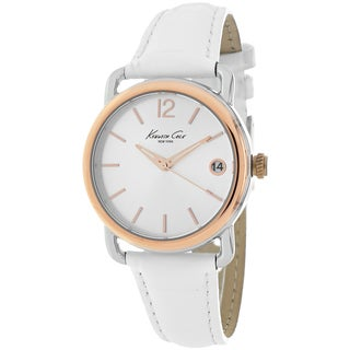 Kenneth Cole Women's  Classic Round White Strap Watch
