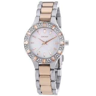 DKNY Women's NY8812 'Chambers' Crystal Two Tone Stainless Steel Watch