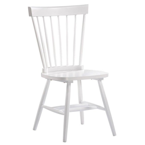 Chicago White Spindle Dining Chair ( Set of 2)