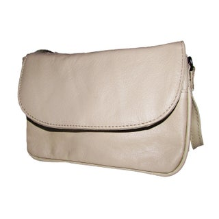 Continental Women's Leather Small Accordion-style 4-in-1 Small Cross-body Bag (Option: CREAM)