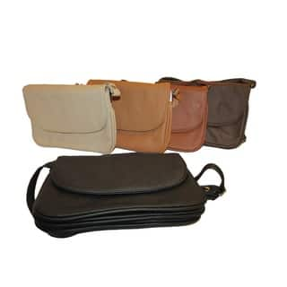 Continental Women's Leather Small Accordion-style 4-in-1 Small Cross-body Bag|https://ak1.ostkcdn.com/images/products/9792956/P16961481.jpg?impolicy=medium
