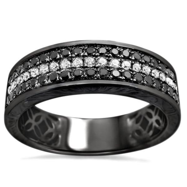 Shop Noori 14k Black Gold Men S 5 8ct Tdw Round Diamond Wedding Band