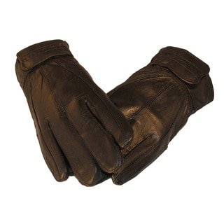 Men's Black Genuine Soft Leather Winter Gloves with Thinsulate to Keep Your Hands Warm