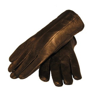 Women's Black Lambskin Leather Gloves