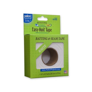 Pellon EK150 Easy-Knit Fusible Batting & Seam Tape White (1.5-inch x 30yd)