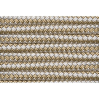 "Shoreline Marine Double Braided Nylon Dock Line, Gold/ White (.375"" x 20')"