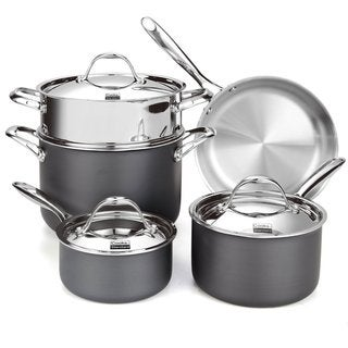 Cooks Standard NC-00390 8-piece Multi-ply Clad Hard Anodize Cookware Set