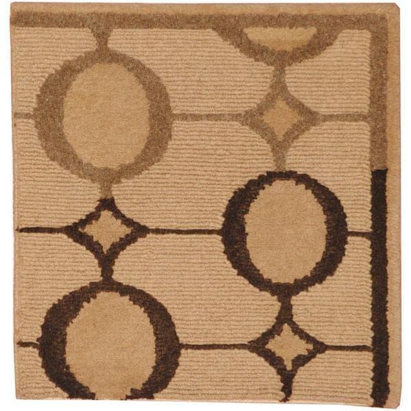 Herat Oriental Indo Hand-knotted Tibetan Wool Rug - 2' x 2'