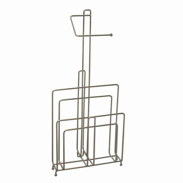 Zenith Chrome Toilet Paper Stand and Magazine Rack