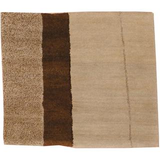 Herat Oriental Indo Hand-knotted Tibetan Multicolor/ Brown Wool Area Rug (2' x 2')