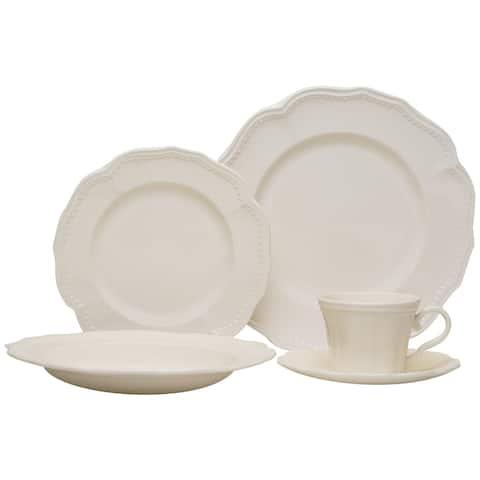 Red Vanilla 20-piece Classic White Dinnerware Set
