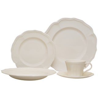 Red Vanilla 20-piece Classic White Dinnerware Set