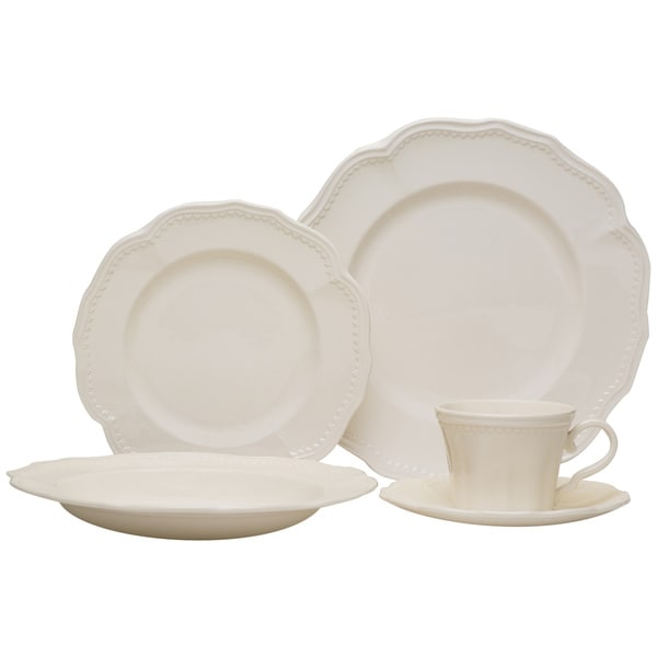 Red Vanilla 20-piece Classic White Dinnerware Set  sc 1 st  Overstock.com & Red Vanilla 20-piece Classic White Dinnerware Set - Free Shipping ...