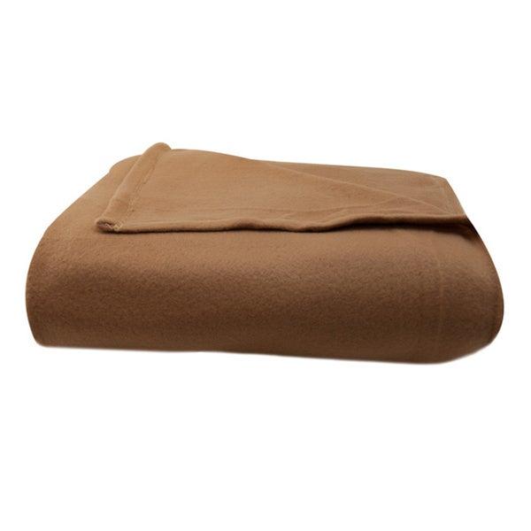 Heavyweight Fleece Brown Blanket