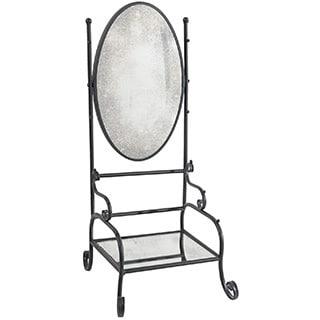 Bailey Wrought Iron Shelf and Mirror