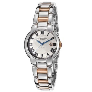 "Raymond Weil Women's 2629-S5-01659 ""Jasmine"" Automatic Silver Textured Dial Two Tone Stainless Steel Watch"