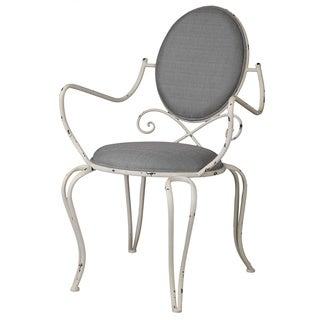Louis White Distressed Metal Chair