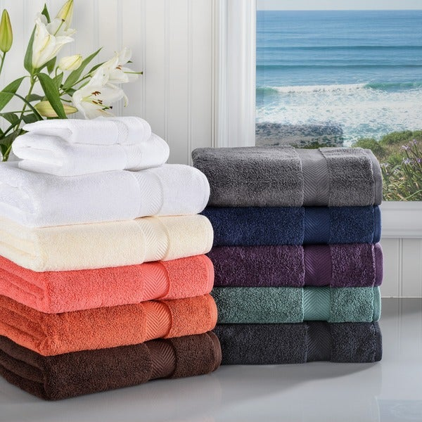 Superior Super Soft & Absorbent Zero Twist Cotton 3-piece Towel Set