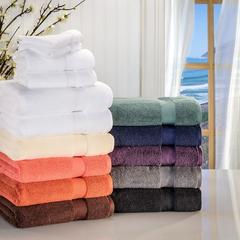 Miranda Haus Soft and Absorbent Zero Twist Cotton 6-piece Towel Set