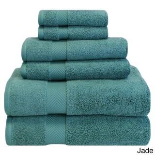 Superior Soft & Absorbent Zero Twist Cotton 6-piece Towel Set