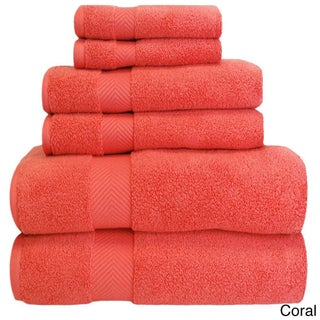 Superior Soft and Absorbent Zero Twist Cotton 6-piece Towel Set
