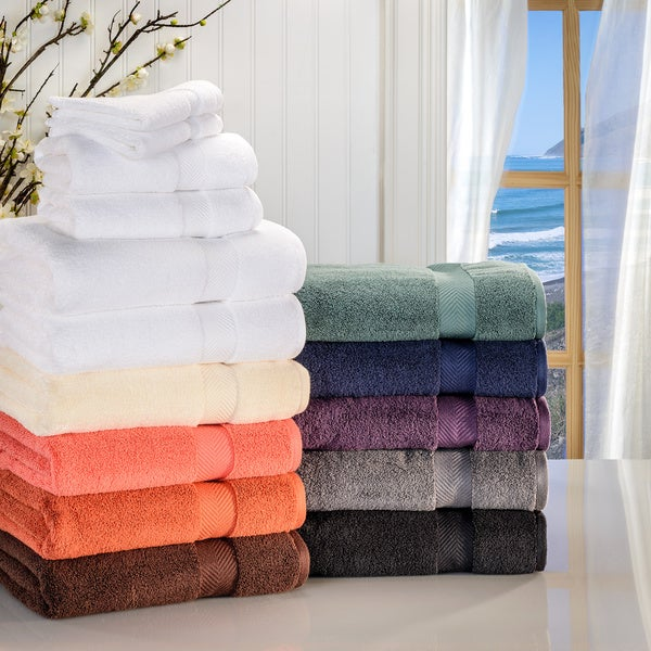 Superior Soft and Absorbent Zero Twist Cotton 6-piece Towel Set