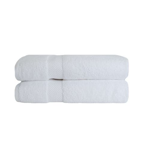 Miranda Haus Super Soft & Absorbent Zero Twist Cotton Bath Towel (Set of 2)