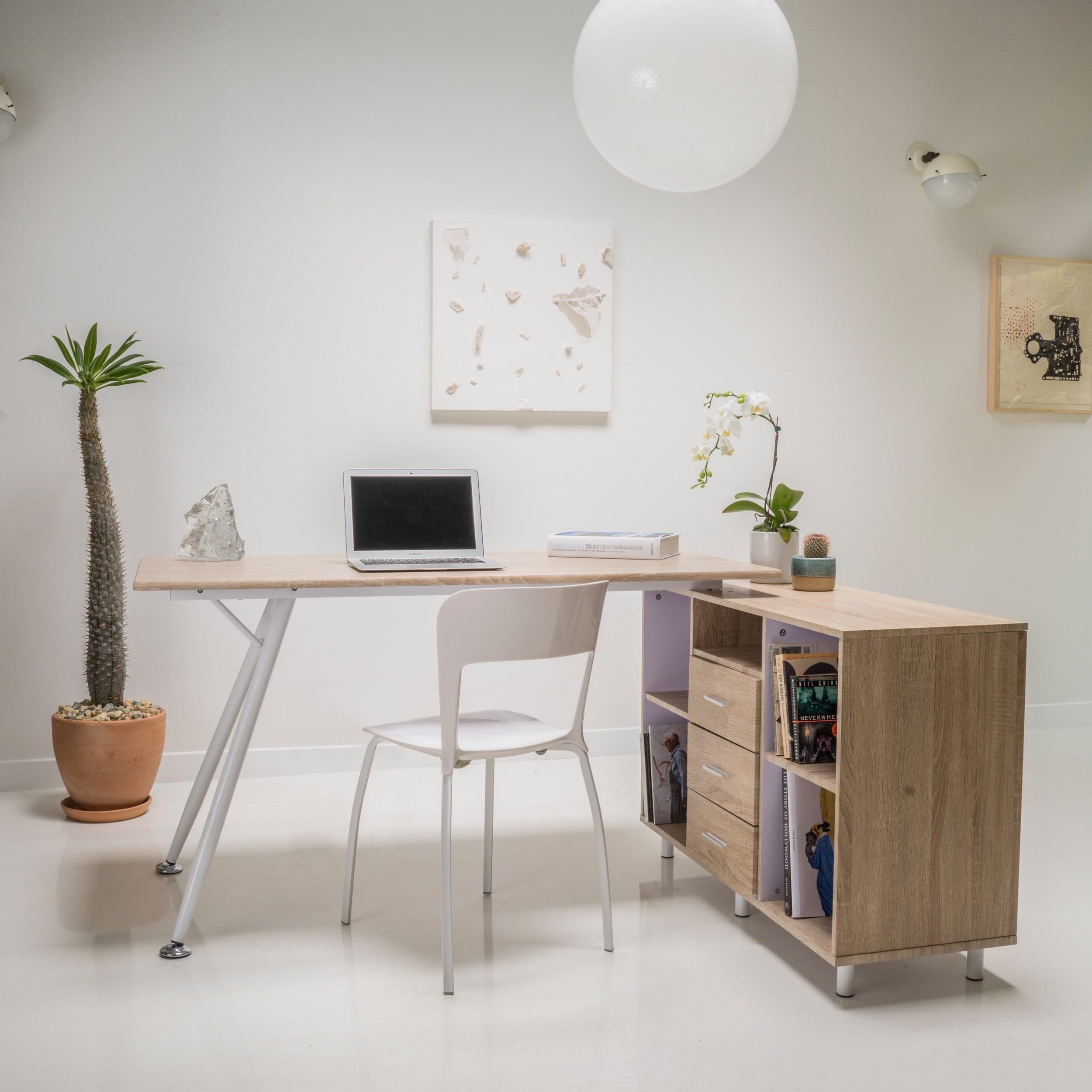 Delta Computer Desk with Storage Cabinet by Christopher K...