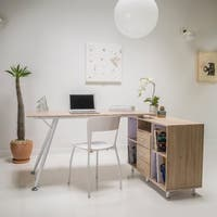 Delta Computer Desk with Storage Cabinet by Christopher Knight Home