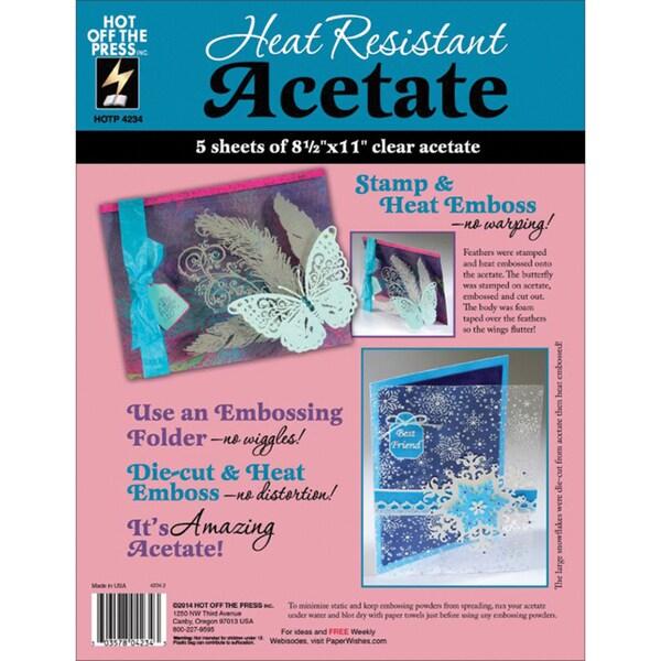 """Heat Resistant Acetate 8.5""""X11"""" 5/Pkg-"""