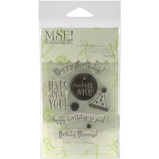 """My Sentiments Exactly Clear Stamps 3""""X4"""" Sheet-Birthday"""