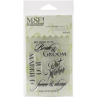 """My Sentiments Exactly Clear Stamps 3""""X4"""" Sheet-Wedding"""