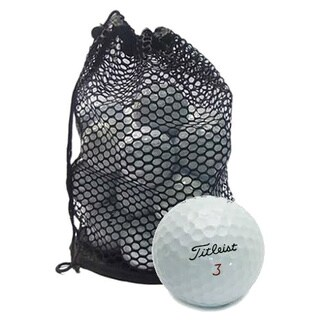 Pack of 100 Titleist Mix Golf Balls with Red Mesh Bag (Recycled)
