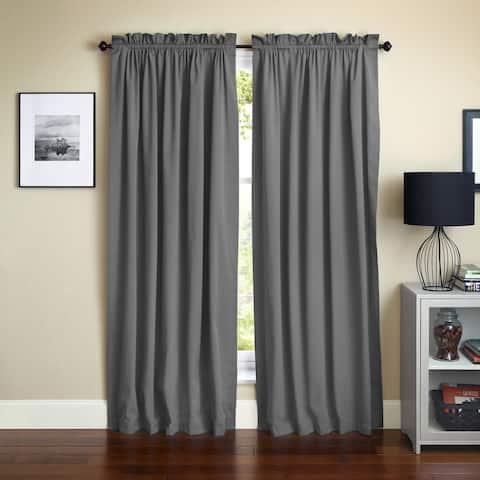 Blazing Needles 84-inch Twill Curtain Panel Pair - 52 x 84 - 52 x 84