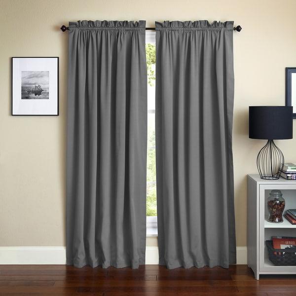 Shop Blazing Needles 108 Inch By 52 Inch Twill Curtain