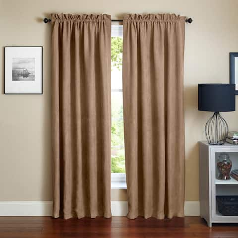 Blazing Needles 108-inch Microsuede Blackout Curtain Panel Pair - 108""