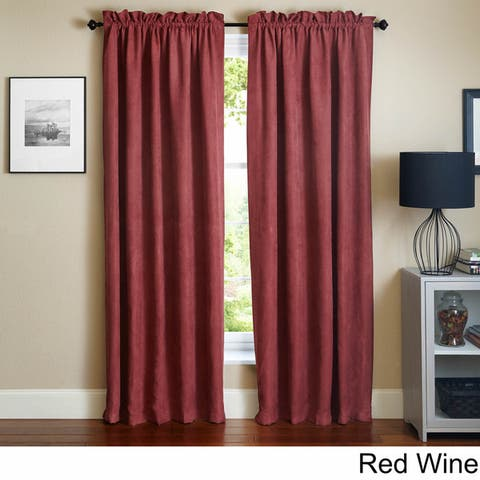 """Blazing Needles 108-inch Microsuede Blackout Curtain Panel Pair - 108"""""""